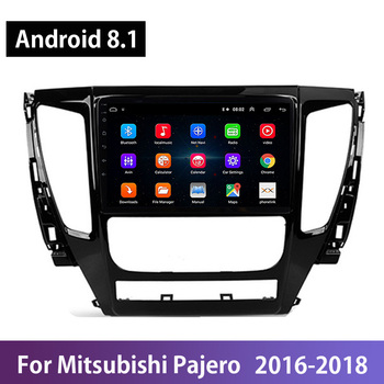 Android 8.1 Car Radio Auto Multimedia For Mitsubishi Pajero Sport 2016 2017 2018 GPS Navi Navigation Stereo Video Player Wifi BT image