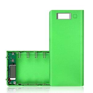 Image 3 - デュアルusb 8*18650バッテリーホルダー電源銀行電池ボックスモバイル電話充電器diyシェルケースと量表示xiaomi