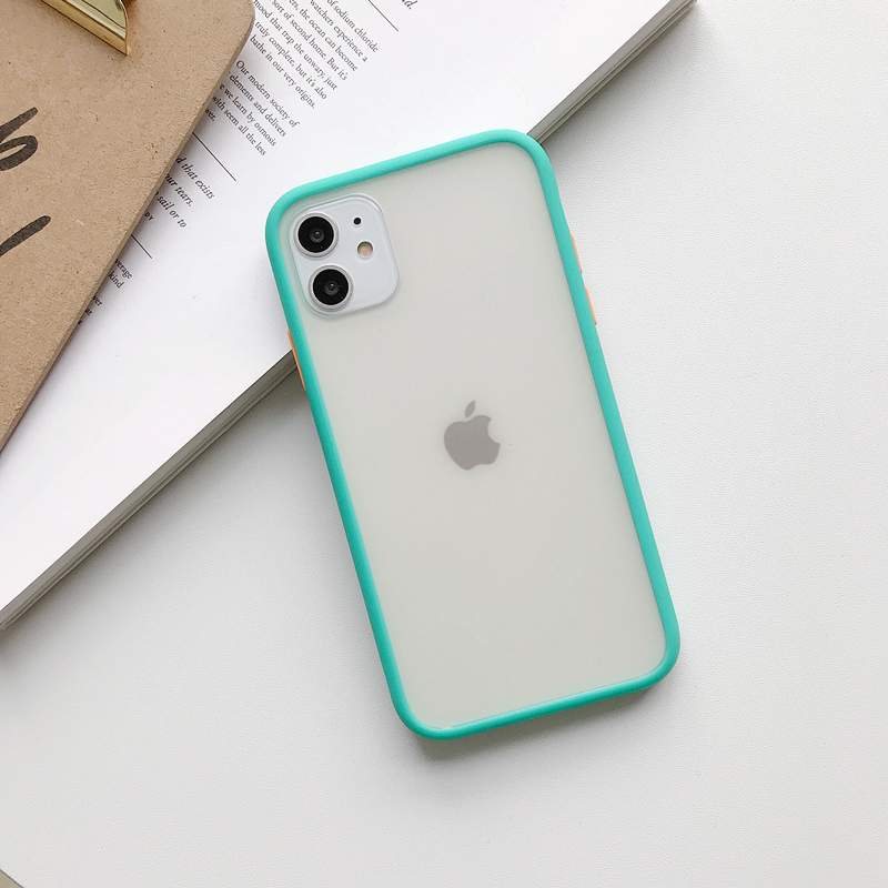 Transparent Silicone Matte Clear Back Cover Bumper Phone Case For iPhone Models 2