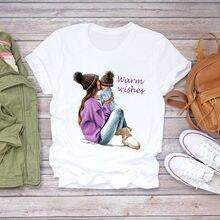 Топ женская футболка с графическим принтом 2020 Мультяшные женские