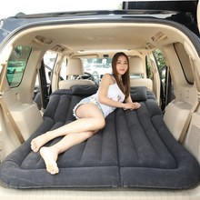 Car SUV Car Air Bed Inflatable Mattress for Camping Travel Universal Extended+Pillow Black HJ-17 big size moonet dark green suv car cushion auto air matting flocked air bed inflatable for road trip travel camping