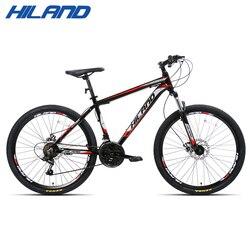 18/21/27 Velocità Mountain Bike Bicicletta 26 pollici in acciaio o telaio in alluminio rosso e nero aviliable MTB spedizione gratuita