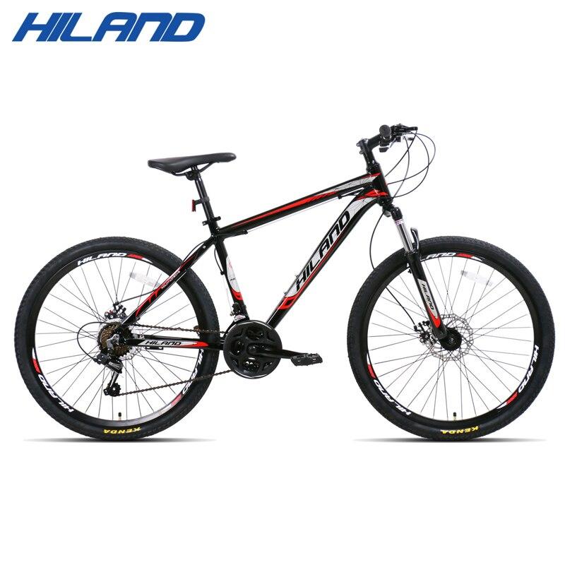 21/27 vitesse VTT vélo 26 pouces en acier ou en aluminium cadre rouge et noir vtt disponible livraison gratuite