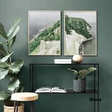 Настенная картина с изображением гор моря дерева природы искусство