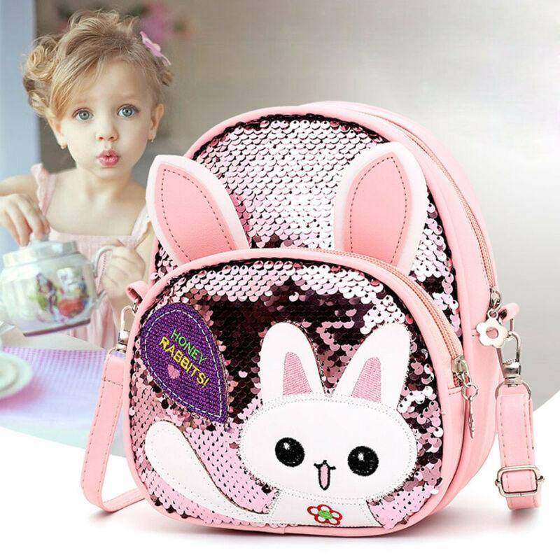 Kids Baby Backpack Cartoon Animal Bag Children Girls Boys Soft Cat School Bag Bling Sequin School Bag Travel Bag Rucksack