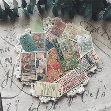 22 Uds. De adhesivos decorativos bricolaje Retro Para billete de viaje, Ablum, álbum de recortes diario, Stickers, papelería, libro, Junkjournal