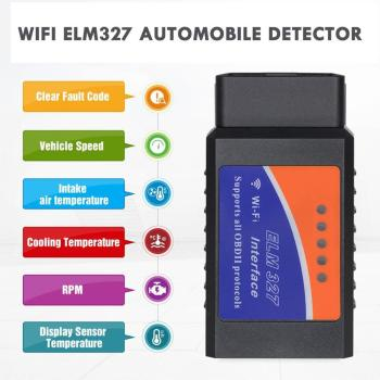 1 Pcs V1.5 Mini Wireless Scanner Wifi Obd 2 V1.5 Elm 327 Auto Diagnostic Tool Car Tester Pic18 F25K80 ar Diagnostic-Tool Scanner image