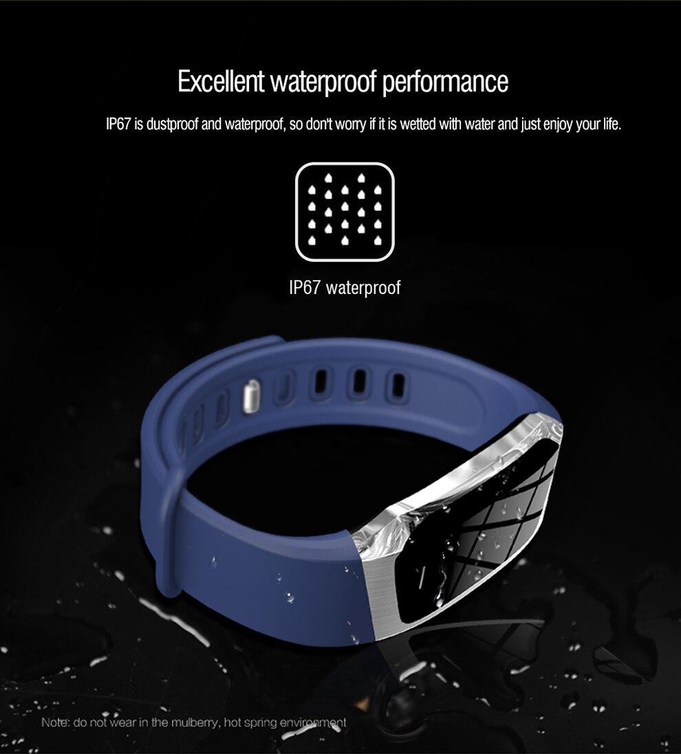 Jelly comb smart wjelly comb αδιάβροχο έξυπνο ρολόι με παρακολούθηση καρδιακού ρυθμού, πίεσης, πολλαπλών λειτουργιών για ios + android msow