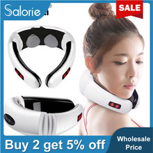 Relief-Tool Health-Care SALORIE Neck-Massager Relaxation Pain Pulse-Back Electric Far-Infrared
