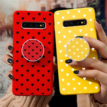 For Samsung Galaxy A51 A71 A10 A20 A20E A30S A01 A30 A31 A40 A50 A70 A91 A90 S10 S10E S8 S9 S20 Plus Ultra Heart Holder TPU Case(China)