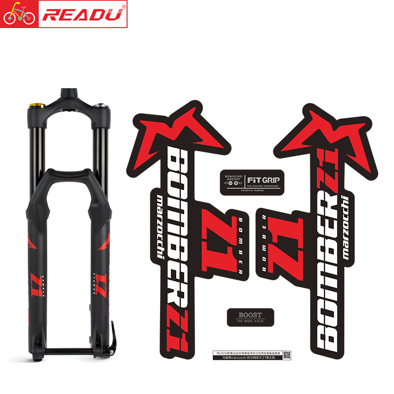 READU Bicycle Stickers 2020 Style Marzocchi BOMBER Z1 Fork Stickers MTB Decals