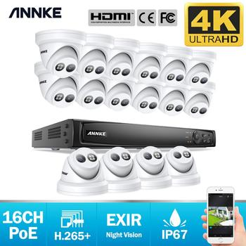 ANNKE 16CH 4K Ultra HD POE Network Video Security System 8MP H.265+ NVR With 16X 8MP 30m EXIR Night Vision Waterproof IP Camera 1