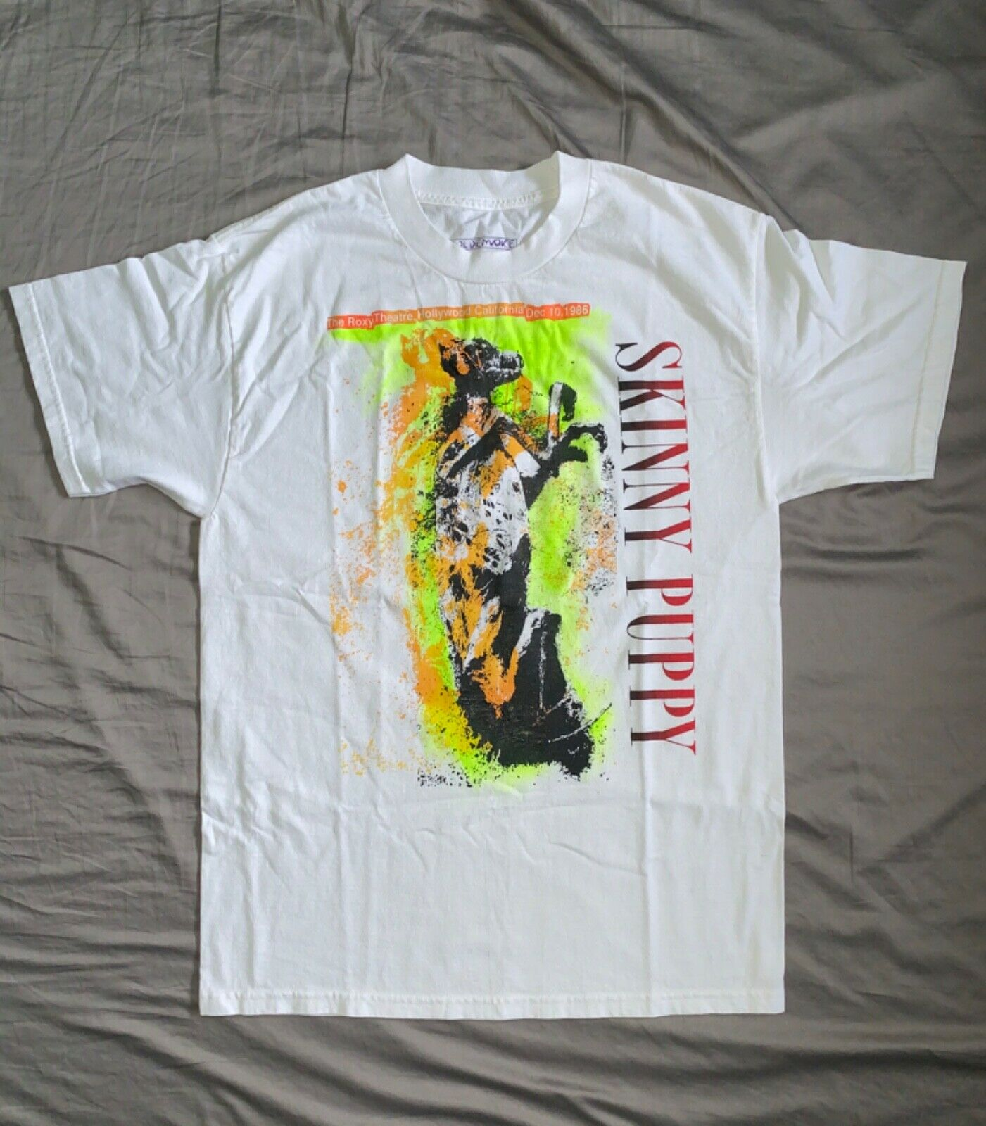 Vintage Skinny Puppy Crew Concert T Shirt Tour Nos Kmfdm Ministry Pigface Tshirt