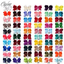 20-60 Pcs Ribbon Hair Bows for Girls Handmade Solid Grosgrain Hairgrips Kids Clips Set Accessories WHOLESALE