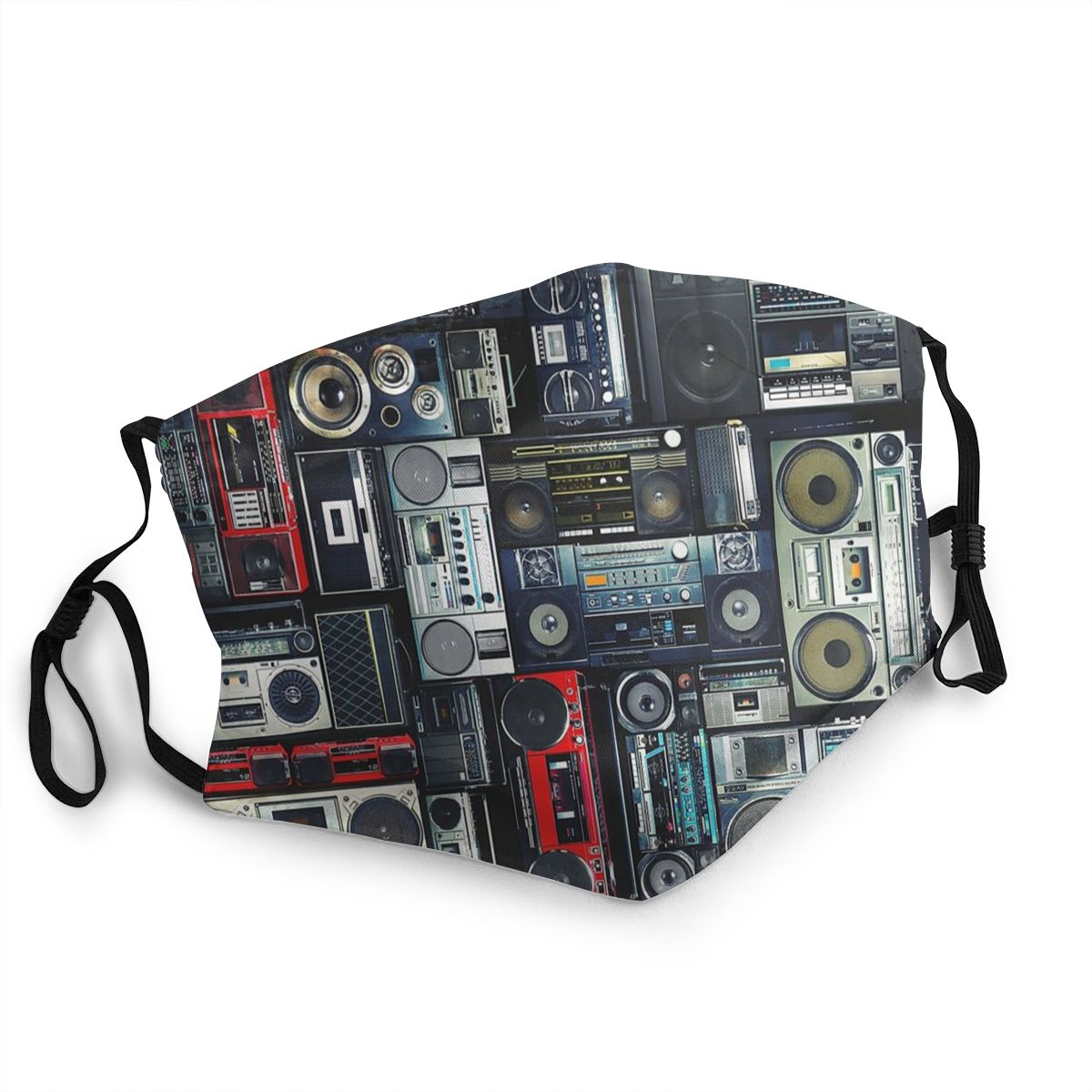 80s Boombox Wall Men Women Reusable Face Mask Recorder Radio Anti Bacterial Dustproof Protection Cover Respirator
