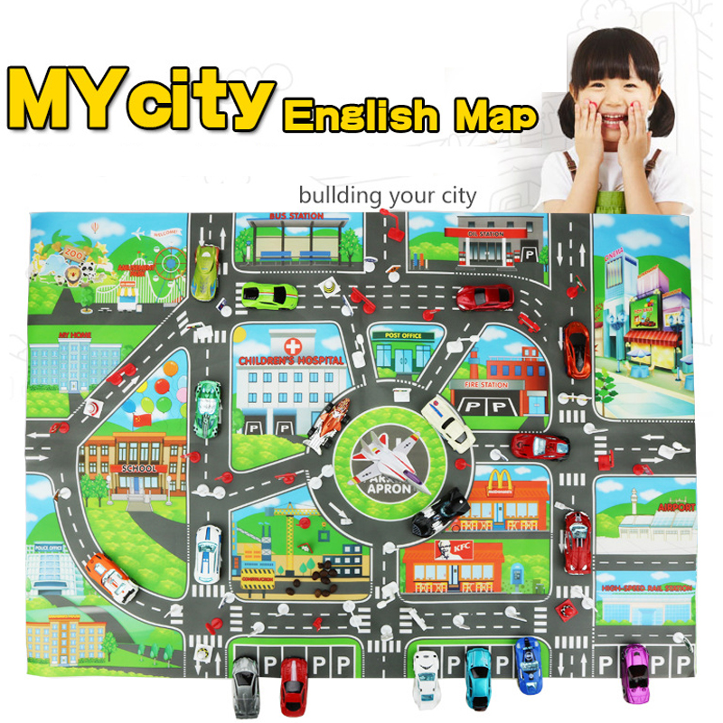 Warmom Baby Toys Crawling Mat Playmat Kids Puzzles City Map Traffic Car Parking Baby Educational Toy For Children Gifts