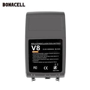 Image 4 - Bonacell V8 4000mAh 21.6 فولت بطارية ل دايسون V8 بطارية المطلق V8 الحيوان ليثيوم أيون SV10 مكنسة كهربائية بطارية قابلة للشحن L70