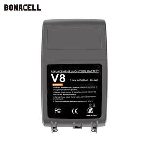 Image 4 - Bonacell V8 4000mAh 21.6V סוללה עבור דייסון V8 סוללה מוחלט V8 בעלי החיים ליתיום SV10 שואב אבק נטענת סוללה l70