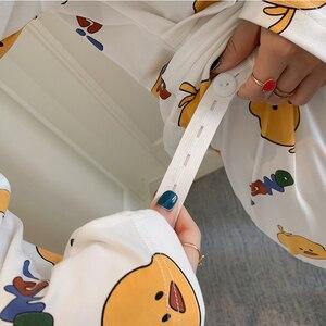 Image 2 - Hot new maternity pajamas set monthly Sleepwear Fashion long sleeved lactation Breastfeeding Nursing clothes for Pregnant Women