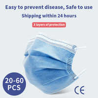 Shipped NOW ! Disposable Anti Dust Mask FFP3 Protective Mask Anti Fog Dust-proof Non-woven Melt Blown Three-layer Mask KN95