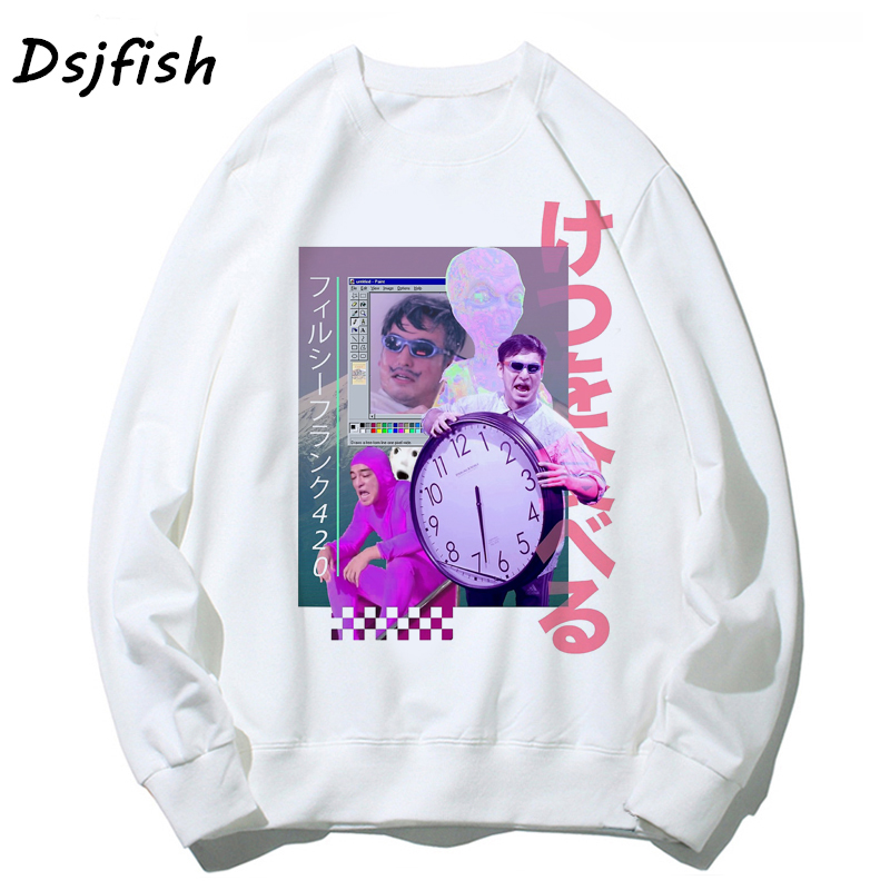 Vaporwave Hoodies Men Funny Harajuk Sad Girl Retro Anime Streetwear Japanese Aesthetic Male/women Tops Sweatshirts Sexy Unisex