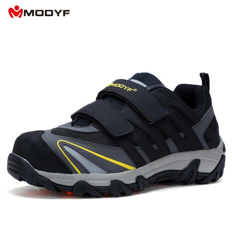MODFY Yeni Nefes Güvenlik Ayakkabıları erkek Hafif Yaz Anti-smashing Piercing iş ayakkabısı Örgü Ayakkabı 35-46