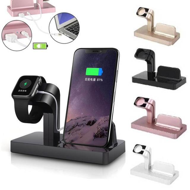 Apple i watch 용 무선 충전기 5 2 3 4 iphone 8 7 6 s plus xr x xs 11 pro max 충전기 독 2 in 1 무선 충전기 패드 스탠드
