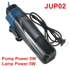 Image 4 - 220V Aquarium UV Sterilisator Filter Pomp 4 in 1 Sunsun Aquarium UV Lamp Interne Filter Beluchting Watercirculatie pomp 5 W/8 W