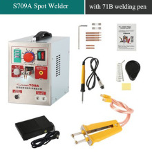 SUNKKO LED Pulse Battery Spot Welder 709A Soldering Iron Station with 71B Welding Pen for 18650 battery Li-Polyer pack
