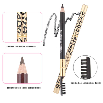 1 PCS Eyebrow Pencil Waterproof Long-lasting Eye Make Up Tool Eyebrow Pen with Brush Eye Brow Pencil Makeup Tools