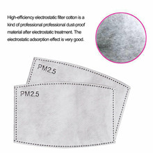 5-200PCS 5 Layer PM2.5 Mask Filter Pads for Mask Filter Mouth Face Protective Skin Friendly Dustproof Pad For Adult Kids Child