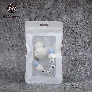 Image 5 - دعونا جعل أكياس بلاستيكية بيضاء 100 قطعة (19.5x11.5 سنتيمتر) عرض أكياس BPA الحرة الطفل اللعب حزمة تظهر لكمة قلادة أكياس اكسسوارات