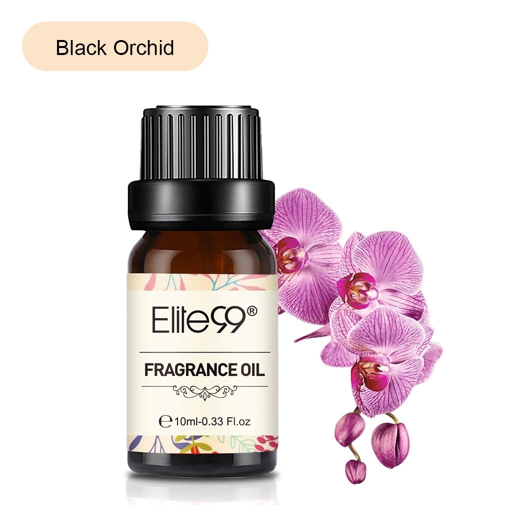 Elite99 Blume Obst Ätherisches Öl für Luftbefeuchter Duft Lampe Schwarz Orchidee Lilie Parma Violet Frische Bettwäsche Japanischen Magnolia