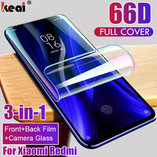66D Hydrogel Film For Xiaomi Redmi mi Note 10 9T Pro A3 9 Lite Full Cover Screen Protector For Redmi Note 8 7 Pro K30 Lens Glass