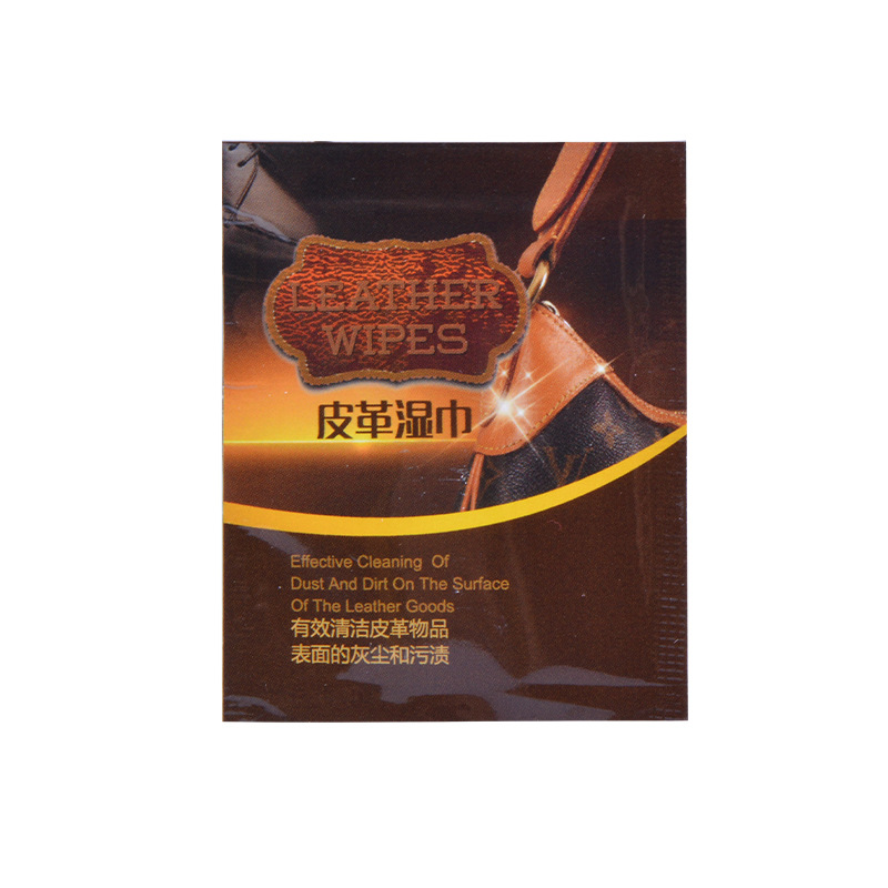 Factory Straight Hair English Unisex Leather Smooth Wet Wipe Disposable Leather Surface Decontamination Polish Wet Wipe