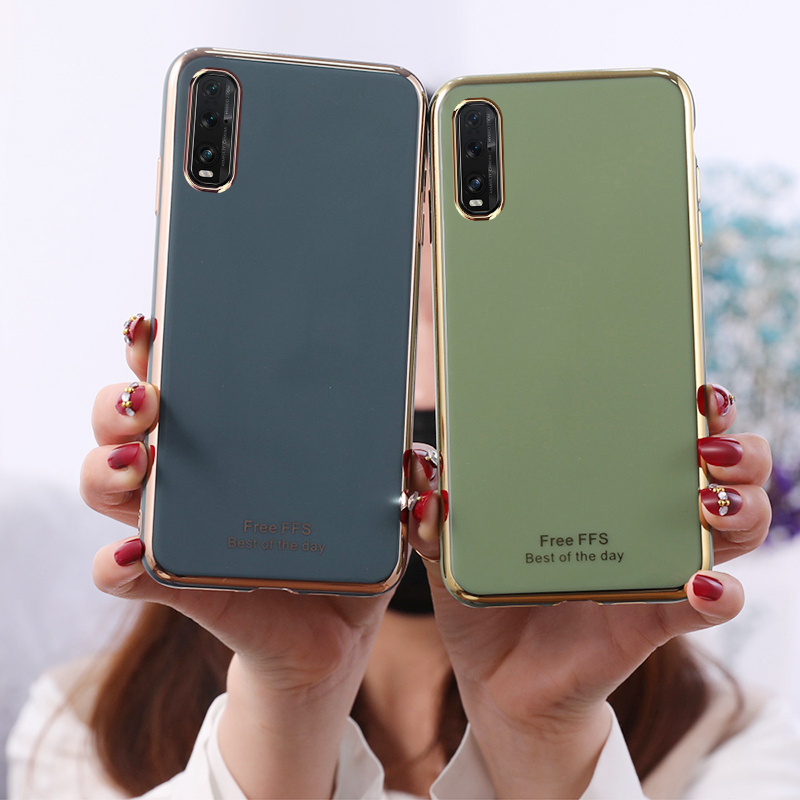Case for <font><b>Oppo</b></font> A92 A72 A52 Find X2 Pro <font><b>Reno</b></font> 3 Pro 2Z 2F Realme X2 Pro XT A3S A5S A5 A9 2020 6D <font><b>Plating</b></font> <font><b>TPU</b></font> Soft Phone Case Cover image
