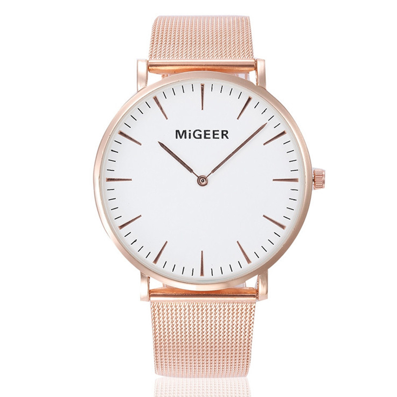Man Watch 2019 Thin Mens Watches MIGEER Stainless Steel Quartz Wristwatches Rose Gold Watches Men mannen horloge reloj hombre
