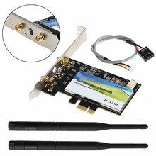 Адаптер для настольного ПК Atheros AR5B225 AR9485 150 Мбит/с, PCI E Express, настольный Беспроводной Wi-Fi Bluetooth 4,0 AR3012 для Windows