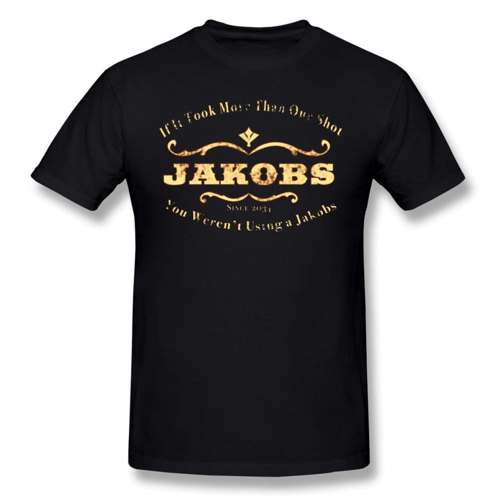 Borderlands T Shirt Jakobs Weapons T-Shirt Printed Funny Tee Shirt Short Sleeve Summer 100% Cotton 3xl Mens Tshirt