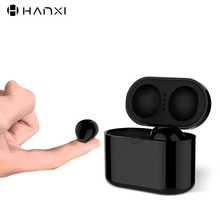 Ultra Small Mini Hidden Wireless Bluetooth 5.0 Earphone Touch Control Portable Charging Case Earbuds TWS Sport Headset