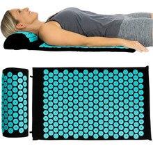 Non-Slip Fitness Pilates Exercise Pillow Yoga Mat Acupressure Cushion Massage Mat Applicator Relieve Stress Back Body Pain Spike