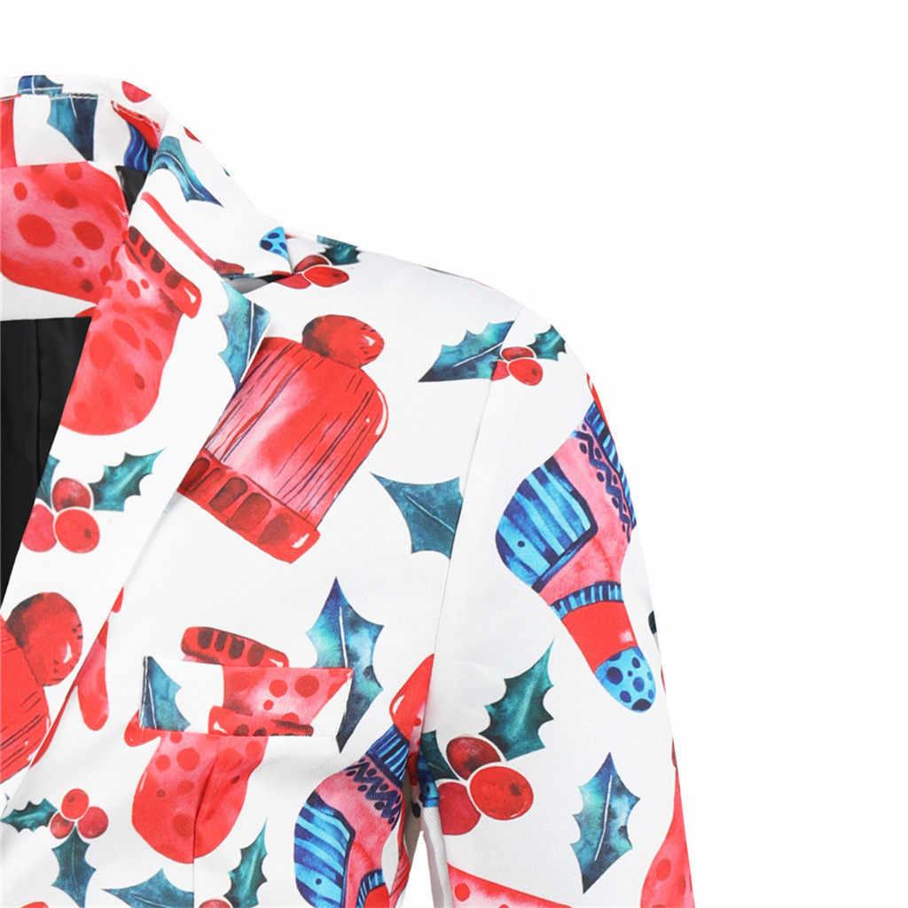 JAYCOSIN גברים בגדי 2019 חג המולד תחפושות חליפת מעילי מעילי חורף אופנה תלבושות חליפת גברים Slim Fit בלייזר Homme 1125