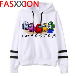 New Video Game Among Us Hoodies Men Impostor Graphic Anime Streetwear Cartoon Sweatshirt Sudadera Hombre Among Us Hip Hop Hoodie