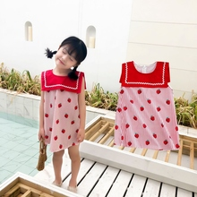Baby Dress Kids Girls Clothes Fly Sleeveless Ribbons Ruched Floral Dress For Girl Summer Beach Party  Dresses girl clothes summer 2018 black beach long dress baby children female sleeveless sling vest a line dress tunic for the beach