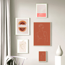 Abstract Woman Body Geometric Line Figure Wall Art Canvas Painting Nordic Posters And Prints Wall Pictures For Living Room Decor abstract minimalist sexy line woman wall art canvas painting nordic posters and prints wall pictures for living room home decor