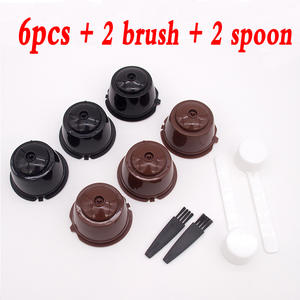 Reusable Coffee FILTER-CUP Capsule Dolce Gusto for Home Kitchen Spoon-Brush 6pcs/Set