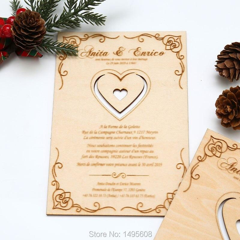 Laser Cut Wedding Invitation Engraves