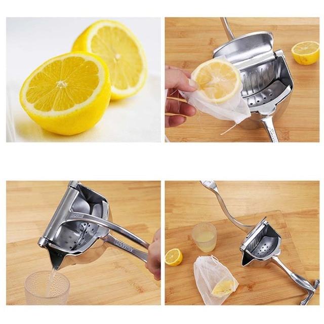 Manual Fruit Squeezer Aluminum Alloy Hand Pressure Juice Pomegranate Orange Lemon Sugar Cane Kitchen Juicer Tool 4