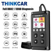 Obd2 ferramenta de diagnóstico thinkcar thinkobd 20 verificação do motor ferramenta de verificação automática obd 2 scanner automotivo pk cr5001 cr3001 lançamento kw650 odb