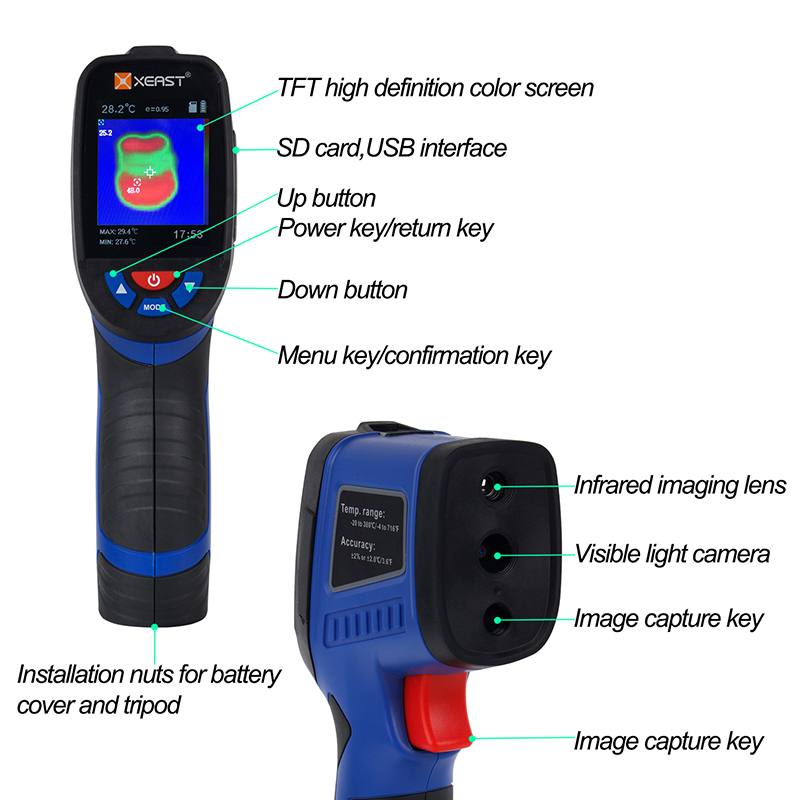 Professional Handheld Digital Thermal Imaging Camera With USB Interface 8